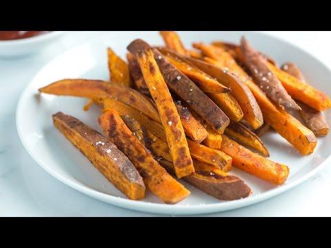 Easy Homemade Sweet Potato Fries Recipe - How to Make Baked Sweet Potato Fries