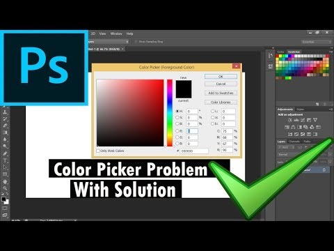 Photoshop CS6 Color Picker Problem with Simple Solution