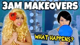 MAKEOVERS AT 3AM. (WE PLAY MOANA VS ELSA) Totally TV