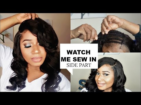 WATCH ME SEW IN    LACE CLOSURE , SIDE PART  FT Dsoar hair