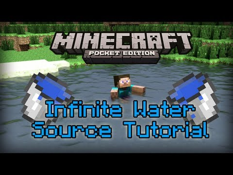 How To Make An Infinite Water Source In Minecraft Pocket Edition