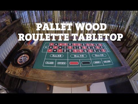 Pallet Wood Roulette Tabletop
