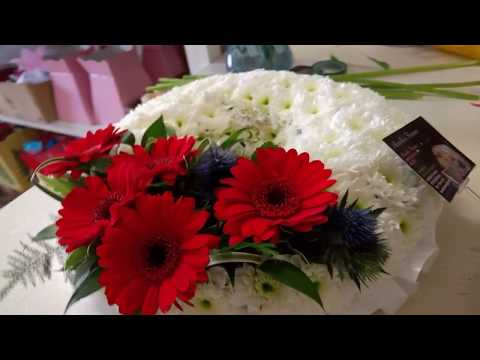 How to make a Funeral Wreath by Aurellas Flowers.