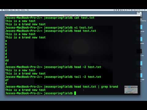 OS X Terminal Commands For Unix & Linux (ls | cd | mkdir | rm | cat | top | ps | find, etc.)
