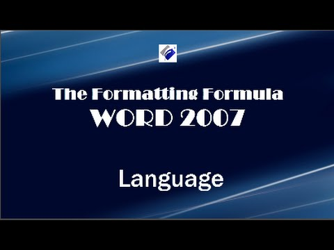Word 2007   Language - Change Proofing Language