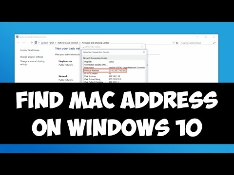 How to Find your MAC Address on Windows 10/8/7
