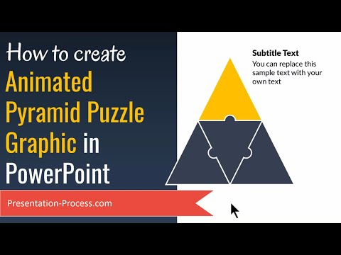 Animated Pyramid Puzzle Graphic in PowerPoint