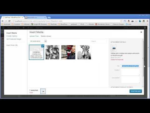Adding a PDF to WordPress