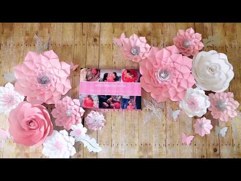 How to hang paper flowers. How to attach wire to a back of paper flower.