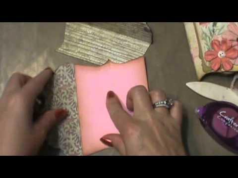 Shabby chic pockets full of vintage tutorial   ( mini album scrapbook )