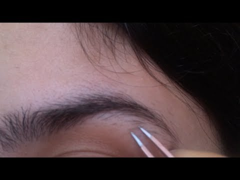 HD Up Close Eyebrow Tweezing and Trimming✂️