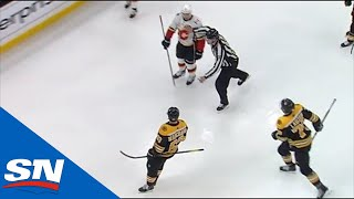 Brad Marchand Scores Shorthanded Breakaway Then Stares Down And Taunts Backlund