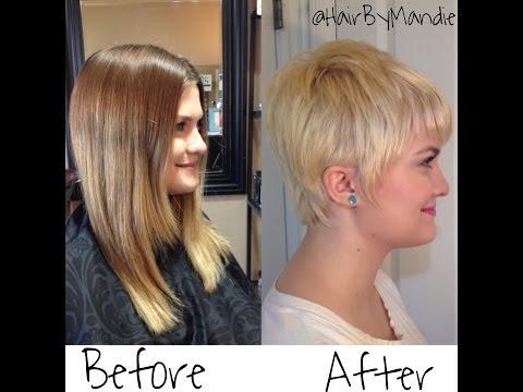 Long Hair To Short Pixe || Haircut Tutorial || Cary Mulligan Look Alike