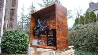 Diy Handmade Wooden Pc Case!