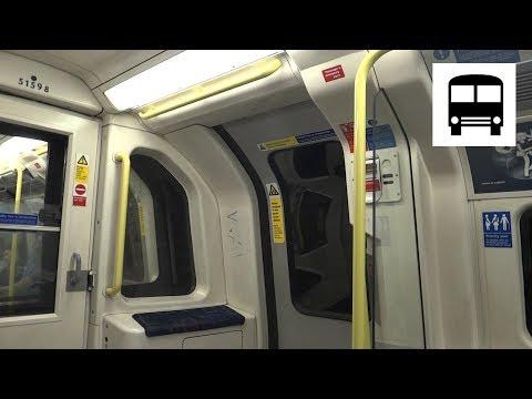 London Underground 1995 Stock - Euston to Camden Town (Northern Line, Bank Branch)