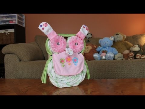 Owl Diaper Cake (How To Make)