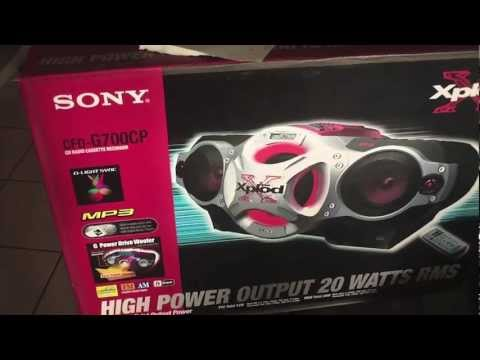 Sony boom box  Xplod G700CP