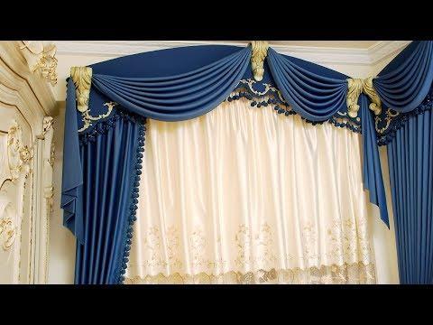how to make swags and tails curtains(Leaning swags)