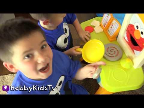 Giant COOKIE MONSTER Surprise Egg with HobbyKidsTV