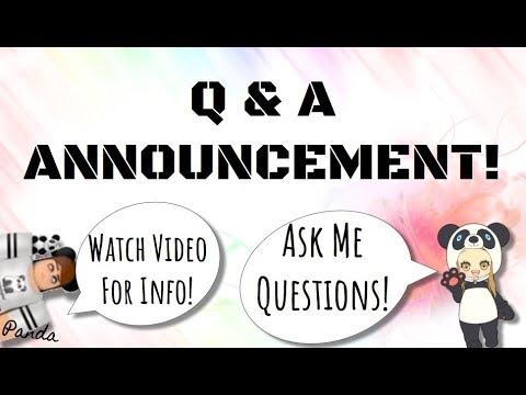 Q&A ANNOUNCMENT! Ask Me QUESTIONS!