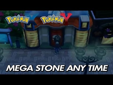 Pokemon X & Y - How To Find Mega Stones At Any Time / Tutorial / Postgame