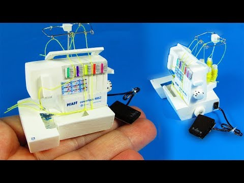 DIY Miniature Sewing Machine Coverlock