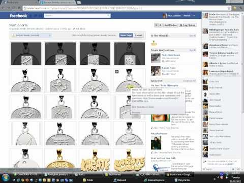 How to tag whole picture albums on facebook