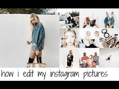 HOW I EDIT MY INSTAGRAM PICTURES ( WHITE THEME )