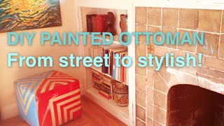 Spray Painted Ottoman From Street Find To Stylish Furniture