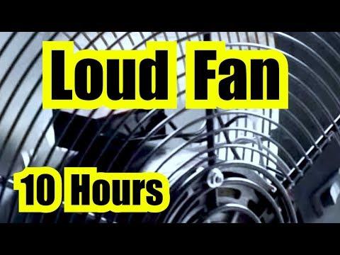 LOUD FAN NOISE w/ BLACK SCREEN for 10 HOURS of SLEEP