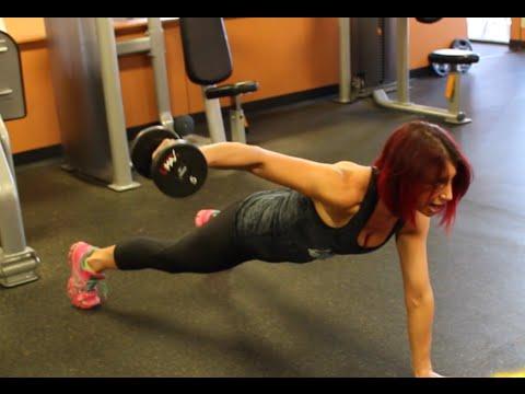 Bikini Competitor - Plank Drill for Tighter Abs