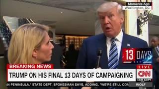 "10/26/16 Donald Trump destroys CNN MUPPET Dana Bash admits  ""You"