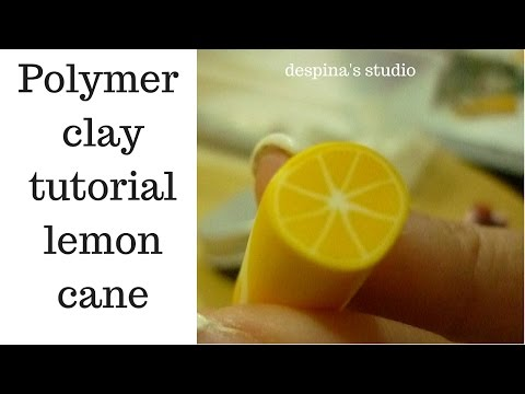 Polymer clay tutorial Lemon cane