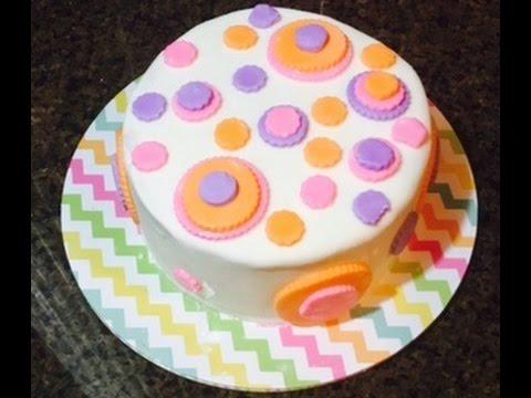 Simple Fondant Cake Decorating