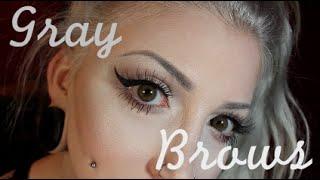 Eyebrow Tutorial for Silver/White/Grey/Gray Hair.