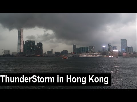 Star Ferry in a Thunderstorm - Hong Kong Vlog Day 2