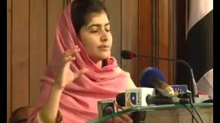 Heart-touching speech by Malala Yousafzai .