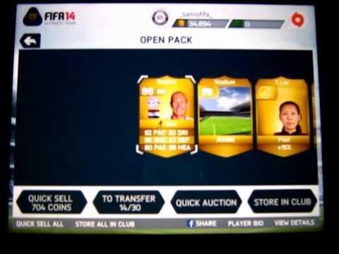My Best Packs On FIFA 14 IOS!
