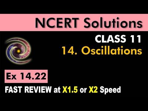 Class 11 Physics NCERT Solutions | Ex 14.22 Chapter 14 | Oscillations