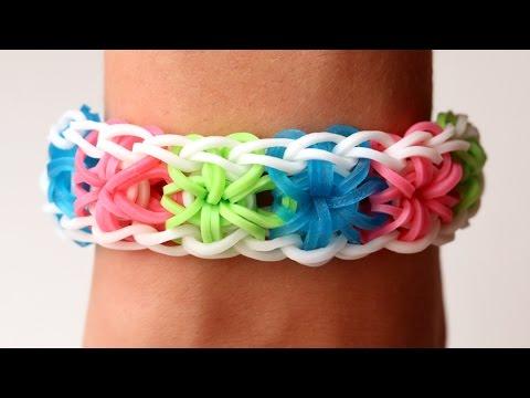 Rainbow Loom Nederlands - Starburst Bracelet || Loom bands, rainbow loom, tutorial
