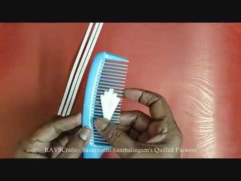 RAVSCrafts - QUILLED FLOWER USING COMB TECHNIQUE