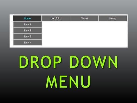 Dreamweaver Tutorial : Pure CSS Drop down menu , Part -1