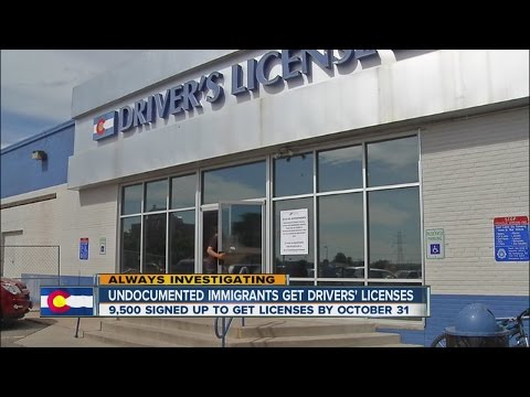 Colorado issuing licenses to immigrants