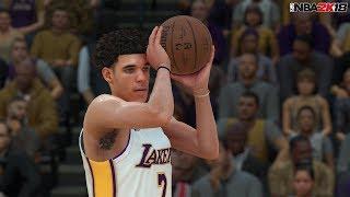 NBA 2K18 Full Gameplay 5v5 Timberwolves vs Lakers! Lonzo Ball 4 Quarters