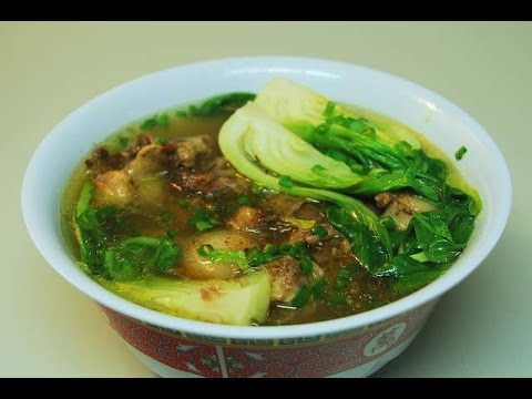 Soup: Beef Oxtail with Ginger and baby bok choy : Authentic Cantonese cooking