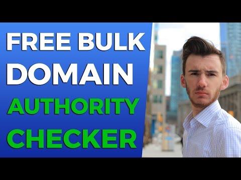Free Bulk Domain Authority Checker