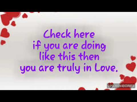 Are you in love? check your love is TRUE or not