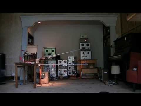 automated composition for violin bow, zither, toy piano and tape recorders