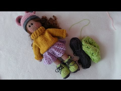 How to crochet doll shoes / Simple  booties
