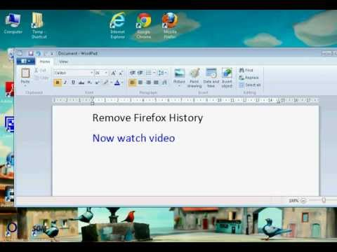 Firefox How to Delete History (Simple)